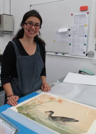 Tina Konstantinidou in her studio.JPG