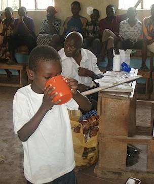 school children in East Africa being treated with Praziquantel the only drug effective against all schistosome blood flukes.jpg
