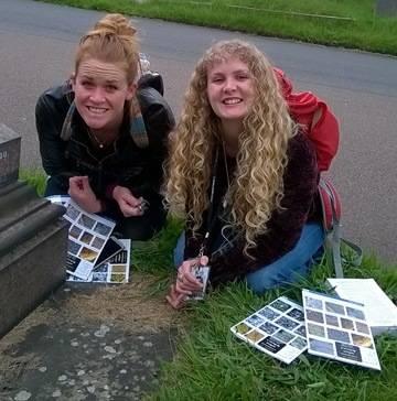 Chloe & Katy finding lichens.jpg