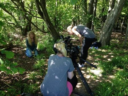 Filming for Orchid Observers.JPG