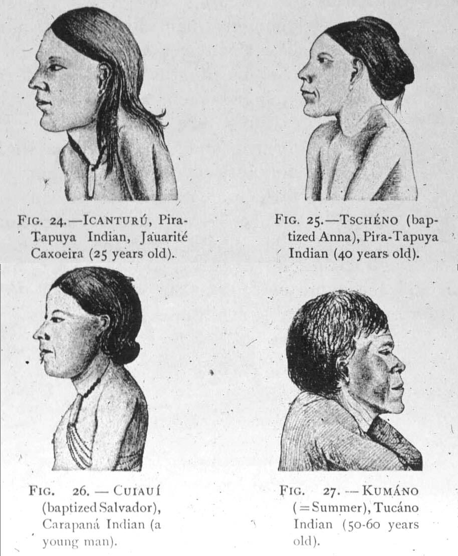 Native People Drawing of Native Amazon People