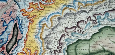 Part of William Smith's geological map of Great Britain