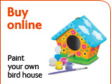 Buy online - Paint your own bird house kit