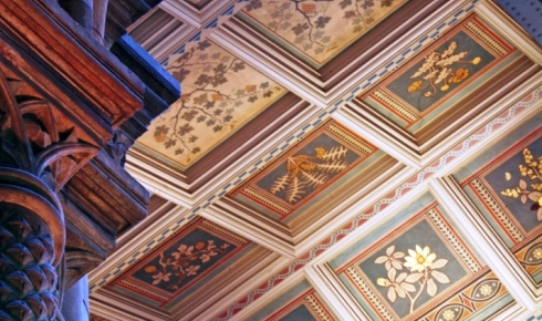 Ceiling panels in the Hintze Hall