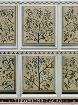 Ceiling panel depicting chocolate