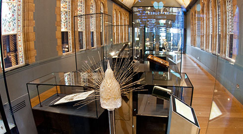 Blaschka glass sculpture of a radiolarian in the Treasures Cadogan Gallery