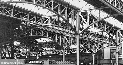 Iron arches at Marylebone Station. Image © Ben Brooksbank.