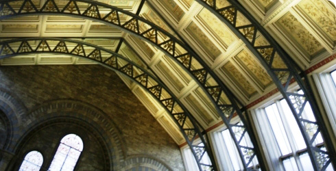 Iron arches in the Museum's Hintze Hall.