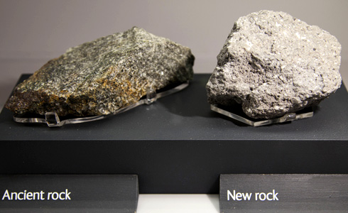Oldest rock and newest rock