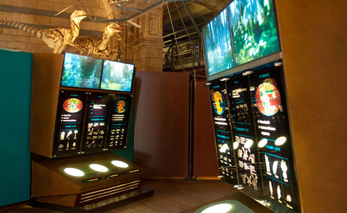Dinosaurs gallery graphic screens