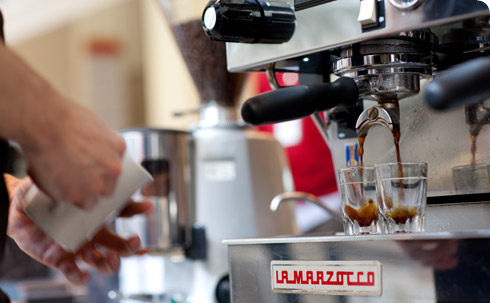 Get refreshed with an espresso coffee from our Snack bar and picnic area