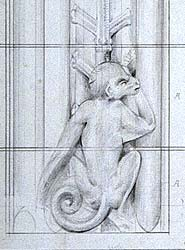 Waterhouse sketch of monkey