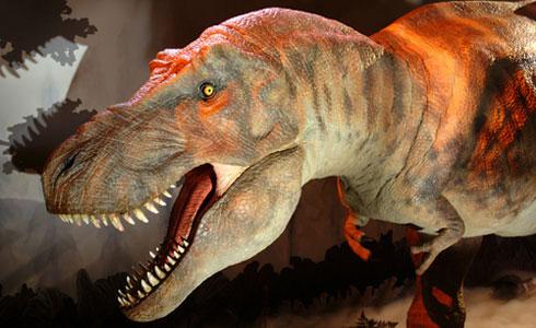 Giant animatronic T.rex.