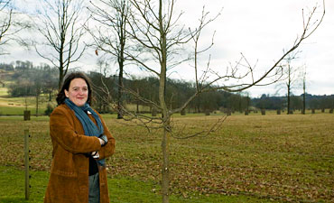 Tania Kovats planting trees in Longleat Estate
