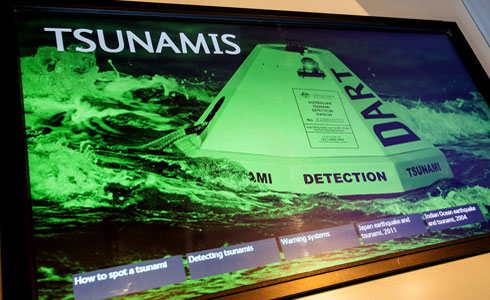 Tsunami touch screen