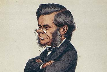 Vanity Fair cartoon of Huxley
