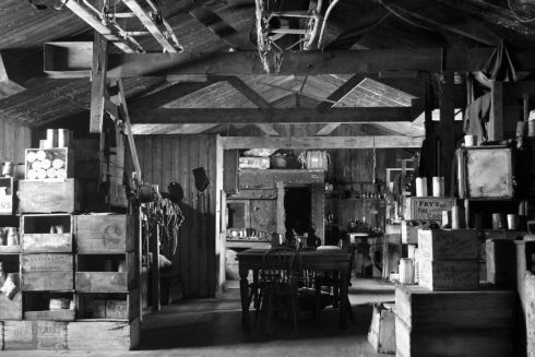 Hut interior at Cape Evans