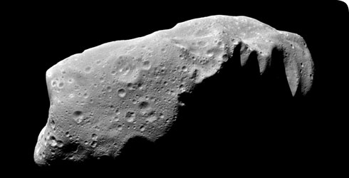 The asteroid Ida photographed by Galileo © NASA