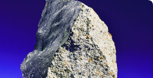 A piece of the meteorite that landed in Barwell in 1965