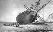 HMS Beagle being repaired