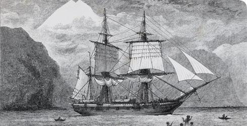 HMS Beagle, which carried Charles Darwin around the world