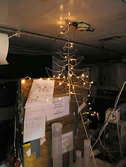 Even the laboratories were adorned with Christmas decorations © David N Thomas