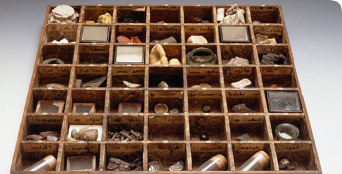 A drawer dating back to before 1753 from the Sir Hans Sloane collection.