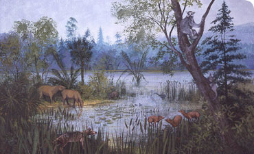 A scene from the Late Eocene Period in what is now Hampshire