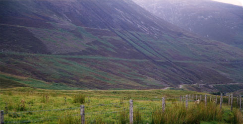 The landscape around Glen Roy, Scotland © David Leff