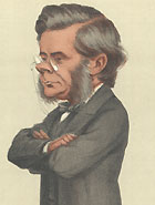 Cartoon of Huxley published in the magazine Vanity Fair.
