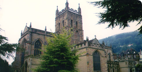 Malvern Priory, where Darwin's eldest daughter was buried © David Leff