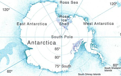 Antarctica and Ross Island © Antarctica New Zealand