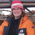 Mindy, from Canada, who is part of the winter 2010 conservation team
