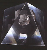 Moon rock specimen, collected on the Apollo 16 mission in 1972 and displayed at the Museum.