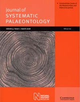 The Journal of Systematic Palaeontology is published by the Natural History Museum
