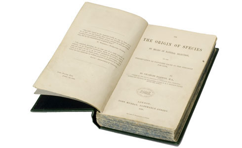 Rare first edition of Charles Darwin's book, On the Origin of Species