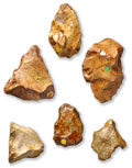 Flint tools found at Piltdown in Sussex