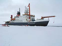 The Polarstern vessel in the Antarctic © David N Thomas