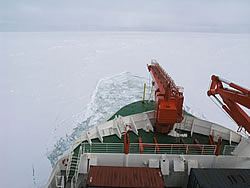 Polarstern vessel ramming the ice © David N Thomas