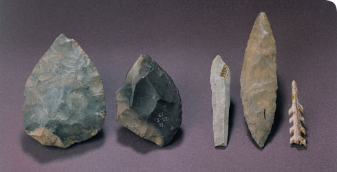Small hand tools from 50,000 - 20,000 years ago