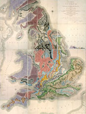 William Smith's geological map, published in 1815