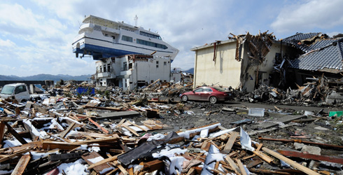 Japan tsunami aftermath, 2011