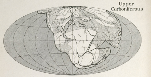 Drawings from The Origin of Continents and Oceans by Aldred Wegener