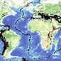 Map of the world's earthquakes