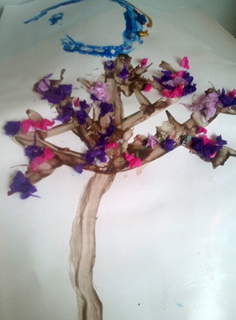 Blossom tree by Ben, age 3