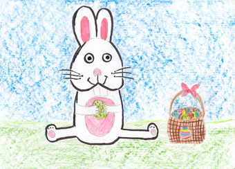 Easter Bunny by Angie, age 10