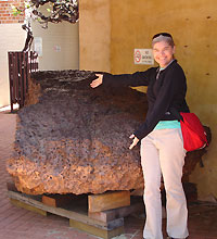 Mundrabilla iron meteorite on display at the Western Australia Museum © Gretchen Benedix