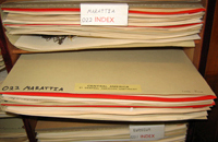 Folders in the Fern Herbarium