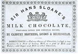 Sloane chocolate label