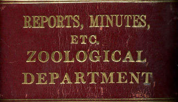 Reports and minutes from the Zoological Department.